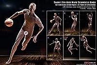 LULU SHOP 1/6 男性 シームレスボディ バスケットボール 選手 素体 PL2018-M36 フィギュア ボディ フィギュア 用 素体セット 男性器付き 新商品