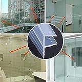 Accesorios de baño de vidrio de plástico de la tira de plástico de la tira de la ducha de silicona 2M para accesorios de...