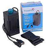 TrustFire 18650 バッテリーパックケース バッテリーカバー 便利なストラップ USB出力 取り付け簡単 自転車用 自転車ランプ用 緊急スマホ用充電器 ライディング用 EB03 充電池別売 18650充電池4点使用 (EB02_4x18650電池使用)