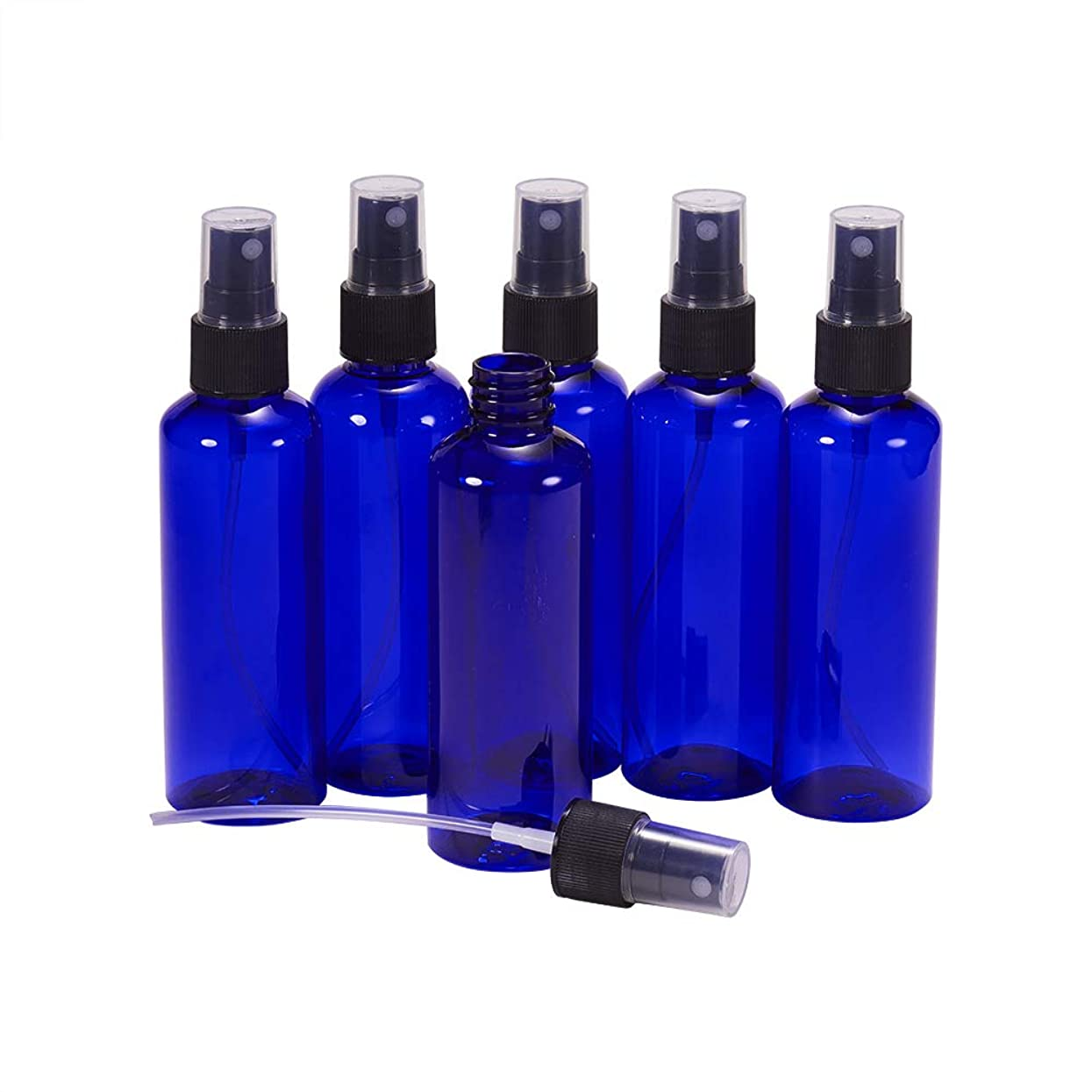 無能マイクロプロセッサ起訴するBENECREAT 100mlスプレーボトル 8個セット遮光瓶 小分けボトル プラスチック容器 液体用空ボトル 押し式詰替用ボトル 詰め替え シャンプー クリーム 化粧品 収納瓶