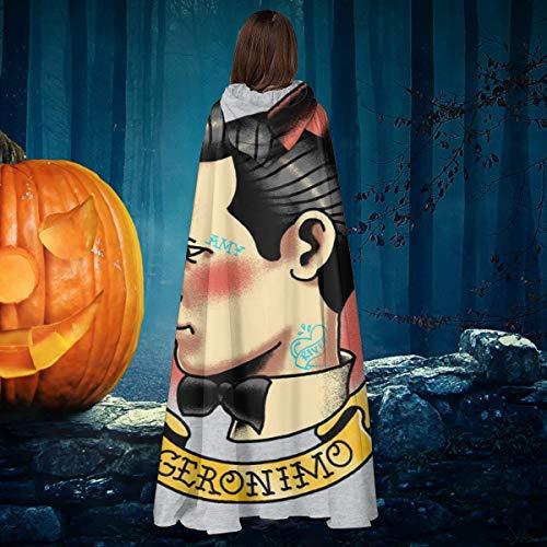 NULLYTG 11º Doctor Who Tatuaje Geronimo Unisex Navidad Halloween Bruja Caballero con Capucha Albornoz Vampiros Capa Cosplay Disfraz
