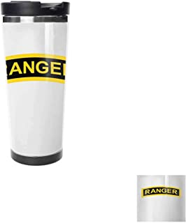 US Army Retro Ranger TabTravel Coffee Cup, Hot, Drinking Cup, Female Male,Double stainless steel vacuum insulation,Thermos cup-18 oz-511ML