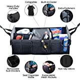 Brightt Car Trunk Organizer Seat and Storage - Food and Drinks Cooler to Keep your Chiller Foods Fresh – Lots of Pockets and Compartments to Save Space, Collapsible, Wear-Resistant and Waterproof