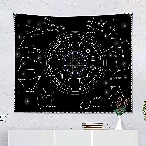Sole Luna tarocchi Arazzo da parete Mandala Constellation Galaxy Rappresentazione stampe murali...
