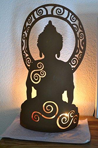 Ganesha- grande ganesha figurine décorative pour la maison et le jardin en acier avec patine