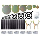 ShootingTargets7 - Complete Shooting Gallery in Box 1/2 inch AR500 for Rifles to 338 Lapua - Laser Cut USA Steel Gong Targets