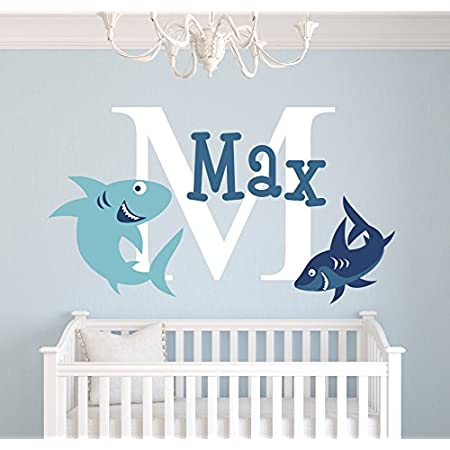 Nursery Bedroom Wall Transfers Large Shark Kid/'s Wall Decals Boys Girls room