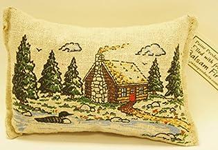 """Paine's Balsam FIR Pillow 3.5""""x5"""" Log Cabin Loon Trees"""