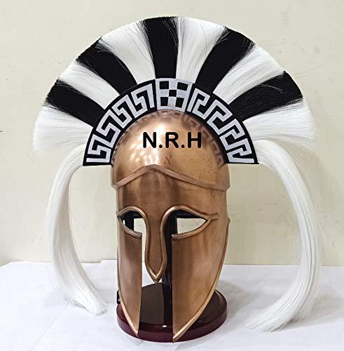 Nautische Replik Radarmierung Mittelalter griechisch-korinthischer Helm mit langem Pflaumen auf Ständer