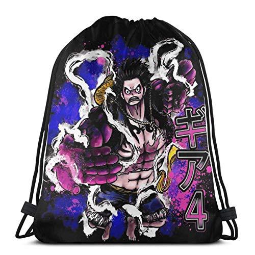 Bolsa con cordón, bolsa de deporte, gimnasio, fiesta, bolsa de regalo, bolsa de regalo, bolsa de almacenamiento, bolsas de regalo de una pieza Luffy Gear 4