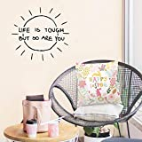Life is Tough Home Decor Vinilo Adhesivos de pared para habitaciones de niños Diy Art Decal Yellow L 43cm X 46cm