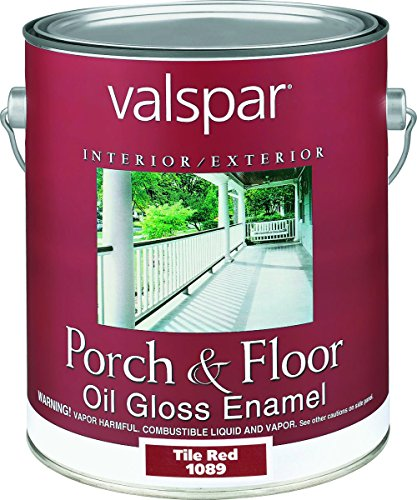 Valspar 1089 Porch and Floor Oil Enamel Paint, 1 gal, Tile Red