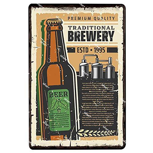 ivAZW Metal Tin Sign Plaque Vintage Pub Bar Decor Plate Poster Home Art Painting Wall Sticker 20x30cm 2403