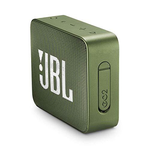 JBL GO 2 Speaker Bluetooth Portatile, Cassa Altoparlante Waterproof IPX7 con Microfono, Funzione di Noise Cancelling, fino a 5 h di Autonomia, Verde Muschio
