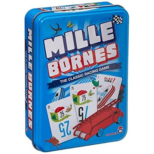 Mille Bornes The Classic Racing Card Game French Auto Tin Container NEW