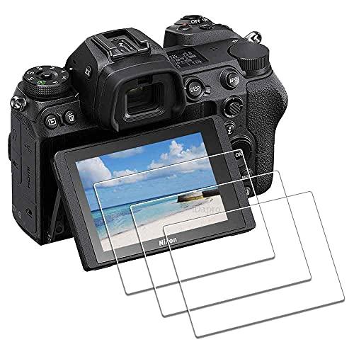 iDaPro - Protector de pantalla de cristal templado para Nikon Z7, Z6 y Z5 (3 unidades)