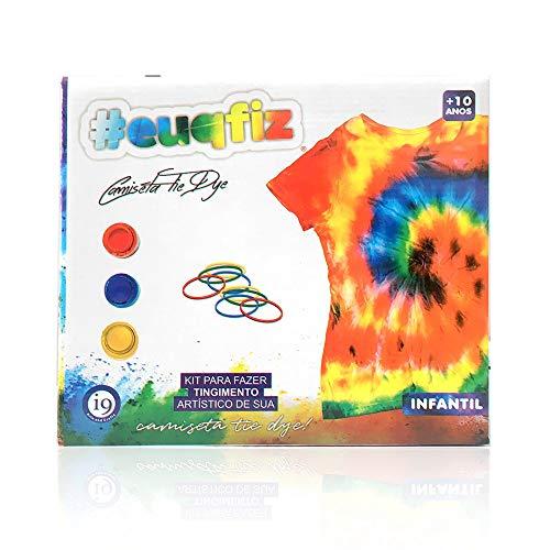 Tie Dye, Kit Camiseta Infantil M, euqfiz, i9 Brinquedos