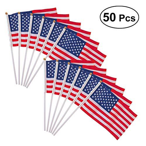 OUNONA 50 St¨¹ck USA Amerikanische Fahne Flagge