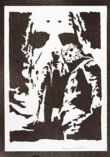 Friday The 13th Poster Jason Voorhees Handmade Graffiti Street Art - Artwork