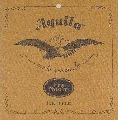 Aquila 31U New Nylgut - Cuerdas para ukelele de concierto (acordes de quinta do, sol, re, la, cuerdas reforzadas, longitud: 76 cm)