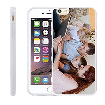 Customize Your Own Phone Case - Personalized Photo Text Logo Back Cover Case for iPhone 6 Plus or 6s Plus,Birthday Xmas Valentines Gift for Her and Him  White