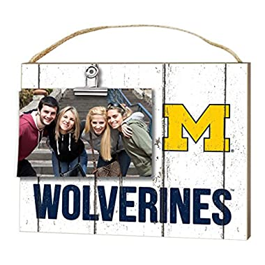 KH Sports Fan 10  x 8  Michigan Wolverines Clip It Weathered Logo Collage Photo Frame