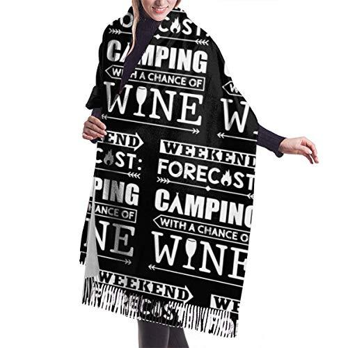 Abrigo manta bufanda previsión fin de semana camping con chales de vino...