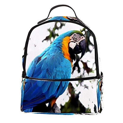 AITAI PU Leder Rucksack Beauty Papagei Aras Outdoor Schule College Bookbag Fit Rucksack für Mann und Frau