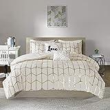 Intelligent Design Raina Comforter Set, King/Cal King, Ivory/Gold