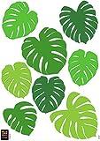 Plage Decoración Adhesiva Hojas Tropicales, Vinilo, Verde, 21x29.6 cm