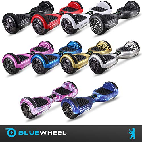 Bluewheel HX310s Patin eléctrico con Sistema de Seguridad para niños a través de App, Altavoz Bluetooth y Luces LED, 2 Motores de 700W, Patinete Scooter Adulto Dos Ruedas Balance Board
