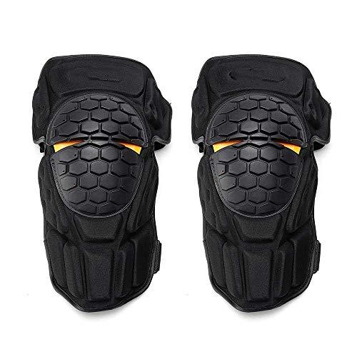 Knieschützer Outdoor Sports Motorrad Knieschützer Motocross Sommer-Breathable Protective Gears Knie Zahnspange (Farbe: Schwarz, Größe: Eine Größe) ZHNGHENG (Color : Black)