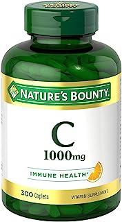 Nature's Bounty Pure Vitamin C Caplets 1000 Mg, White, 300 Count