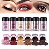 BONNIE CHOICE 6 Colors Glitter Eyeshadow Power, Loose Pigments, Loose Eyeshadow,...