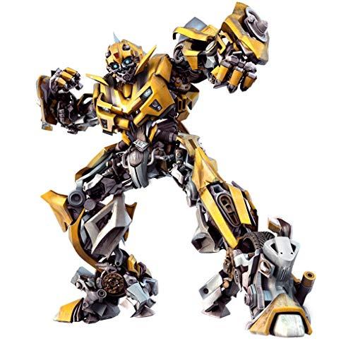 LCFF Wandtattoo 3D Wandaufkleber Wandbilder Transformers Optimus Prime Hornet Boss Held Roboter Aufkleber Tapete Poster Removable Self Adhesive Kind-Raum-Wand-Dekor 60x90cm (Color : F)
