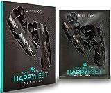 FLUXC® HAPPYFEET FOOTMASK Fußmaske zur Entfernung von Hornhaut mit ALOE VERA I Hornhautentferner I Foot Peel Mask I Fußpeeling Socken I Hornhautentfernung I