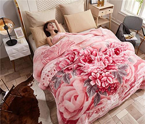 Asbecky Mantas Cubre Sofas Manta de Lana de Franela - Mantas de Cama cálidas, Suaves y acogedoras, para sofá, día de San Valentín, Multiusos-Norte_El 150x200cm-2.5kg