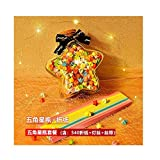 Tiras de origami de estrellas luminosas, estrellas de la suerte de cinco puntas dobladas, escritura de deseos creativos en botellas de vidrio, juego de caja de regalo de fragancia hecha a mano-A3