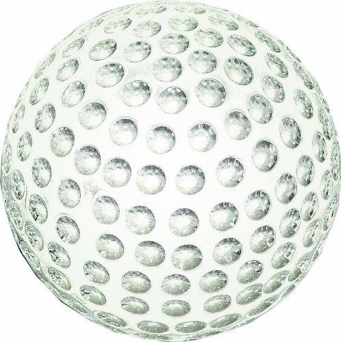 Longridge Uni Briefbeschwerer Kristall Golfball, Weiß