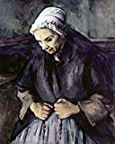 Posterazzi An Old Woman With a Rosary Poster Print by Paul Cezanne, (8 x 10)