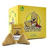 Scherzkeks® - eine Packung Heiterkeit, 10er Box Scherzkekse, 10 Kekse mit Flachwitze, Witz-Keks Vegan, Made in Germany, Geschenkidee, Vegane Geschenke Gastgeschenke Geburtstag Glückskekse Glückskeks