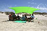 ZiggyShade Family Beach Sunshade, Lightweight Pop Up Sun Shade Tent with Sandbag Anchors, UPF50+ Quality Lycra Fabric, Ground Pegs. Large Outdoor Canopy for Camping Trips, Picnics. 8.8x8.8 FT, 4 Poles