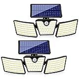 Luz Solar Exterior, Foco Solar Exterior LED con Sensor De...