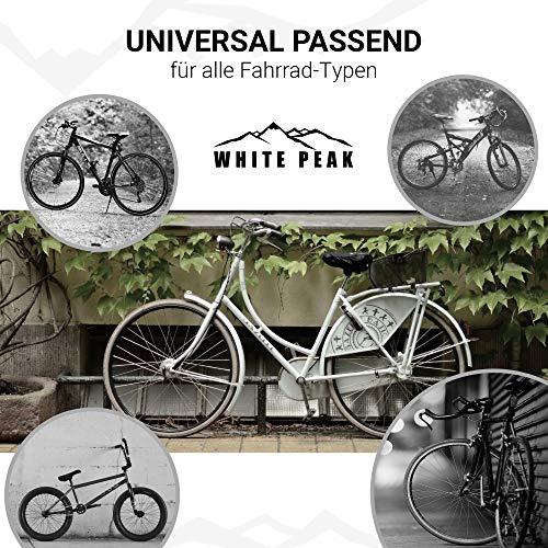 WHITE PEAK® 2er Set Wasserdichter Sattelbezug - Bike Seat Cover - Universalgröße - Der perfekte Sattelschutz für Ihr Fahrrad - 5
