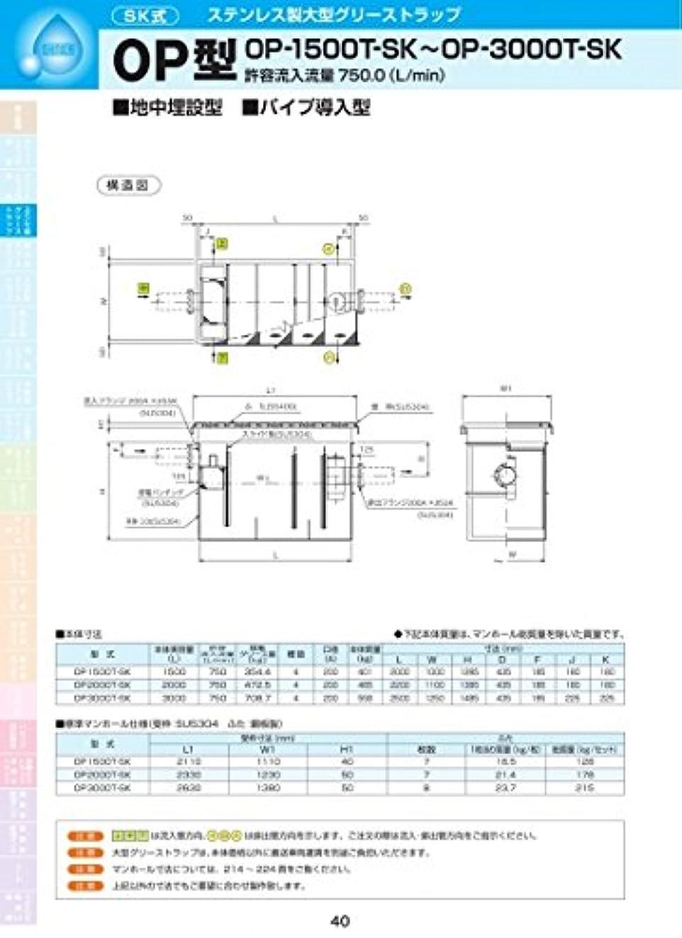 理解不正確ケーブルカーOP型 OP3000T-SK 耐荷重蓋仕様セット(マンホール枠:ステンレス/蓋:SS400) T-14