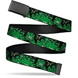 Buckle-Down mens Buckle-down Web Hulk 1.5' Belt, Multicolor, 1.5 Wide - Fits up to 42 Pant Size US