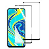 FANIER Cristal Templado para Redmi Note 9S, Protector de Cristal Templado Pantalla Protector de Cristal Templado para Xiaomi Redmi Note 9S (2 unidades, antiarañazos, sin burbujas)