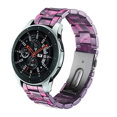 DEALELE Correa compatible con Galaxy Watch 46 mm/Galaxy 3 45 mm, 22 mm, pulsera de resina colorida de repuesto para Samsung Gear S3 Frontier/Classic/Huawei GT2 de 46 mm (morado)