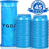 Vomit Bags, YGDZ 45 Pack Motion Sickness Bags Blue Emesis Bags Disposable Barf Bags Car Nausea Bags for Travel, 1000ml