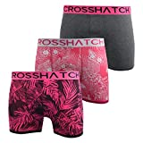 Crosshatch Mens Boxers Shorts Multipacked 3PK Underwear Gift Set 3 Pack Tresco(XL,Pink)